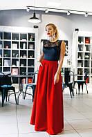 Сукня жіноча в підлогу з кишенями