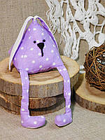 Мягкая игрушка ручной работы зайчик-пирамидка