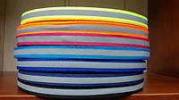 Лента со светлоотражательной полосой на ткани цветная