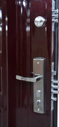 Уличные входные двери ААА Богатырь 002 автолак вишня, фото 2