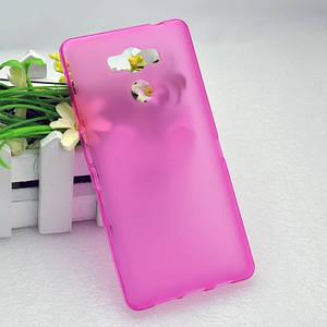 Чехол бампер для Elephone p9000 силиконовый розовый