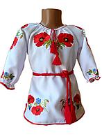 """Дитяча вишиванка для дівчинки """"Мірел"""" (Детская вышиванка для девочки """"Мирел"""") DK-0005"""