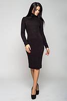 Платье гольф осень - зима  черное модное