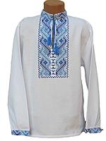 """Вишита сорочка """"Блакитний узор"""" (Вышитая рубашка """"Голубой узор"""") DN-0001"""