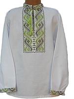 """Вишита сорочка """"Зелений орнамент"""" (Вышитая рубашка """"Зеленый орнамент"""") DN-0003"""