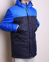 Зимняя мужская куртка удл. водоотталкив. на пропитке,синтепон 250+флис,до -25 M L XL 2XL 3XL арт.3055