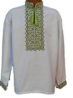 """Вишита сорочка """"Свежий орнамент"""" (Вышитая рубашка """"Свежый орнамент"""") DN-0008"""