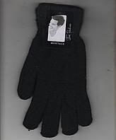 Перчатки мужские одинарные шерсть с начёсом Пані Рукавичка А-2, чёрные