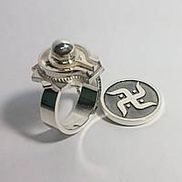 Серебряное кольцо Лингам