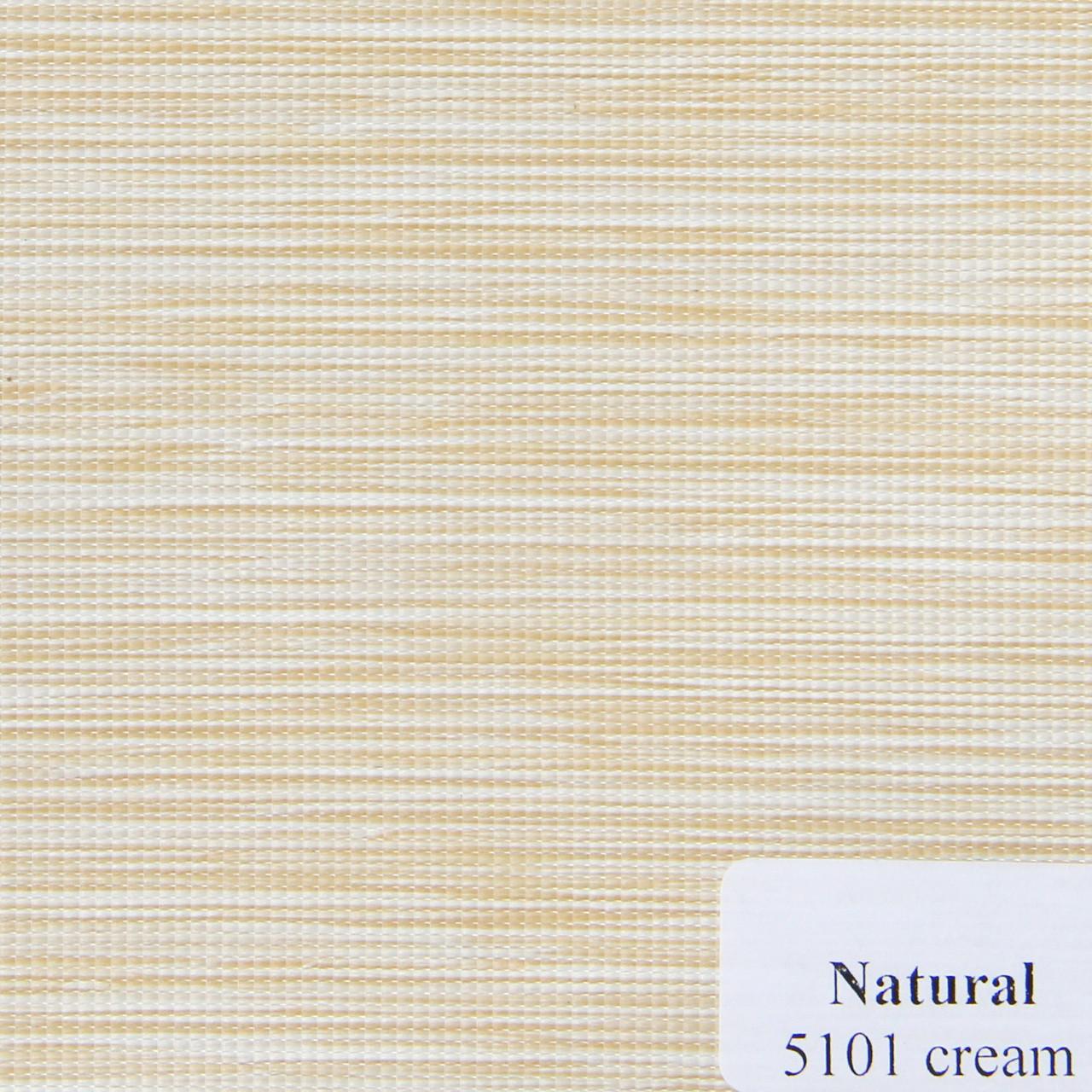Рулонні штори Одеса Тканина Natural Кремовий 5101
