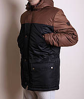 Зимняя мужская куртка удл парка. водоотталкив. на пропитке,синтепон 250+флис,до -25 M L XL 2XL 3XL арт.3053