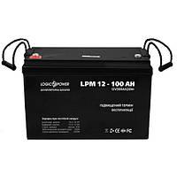 Аккумулятор AGM - 100 Ач, 12В мультигелевый LogicPower LPM 12-100 AH, фото 2