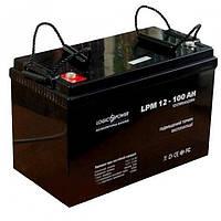 Аккумулятор AGM - 100 Ач, 12В мультигелевый LogicPower LPM 12-100 AH