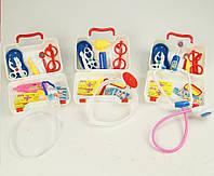 Детский  игрушечный   набор доктора  « Маленький врач »  в  чемодане , 15 приборов