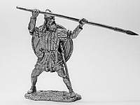 Оловянный солдатик. Викинг с копьем.
