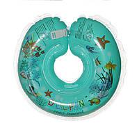 Дитячий круг на шию для купання Delfin EuroStandard синій, фото 1