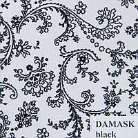 Рулонные шторы Одесса Ткань Damask Чёрный