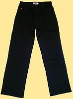 Брюки подростковые на мальчика черные утепленные на флисе, 150 см