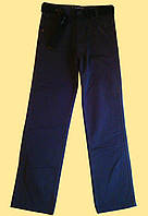 Брюки для мальчика подростковые утепленные, серые, на флисе, 150 см