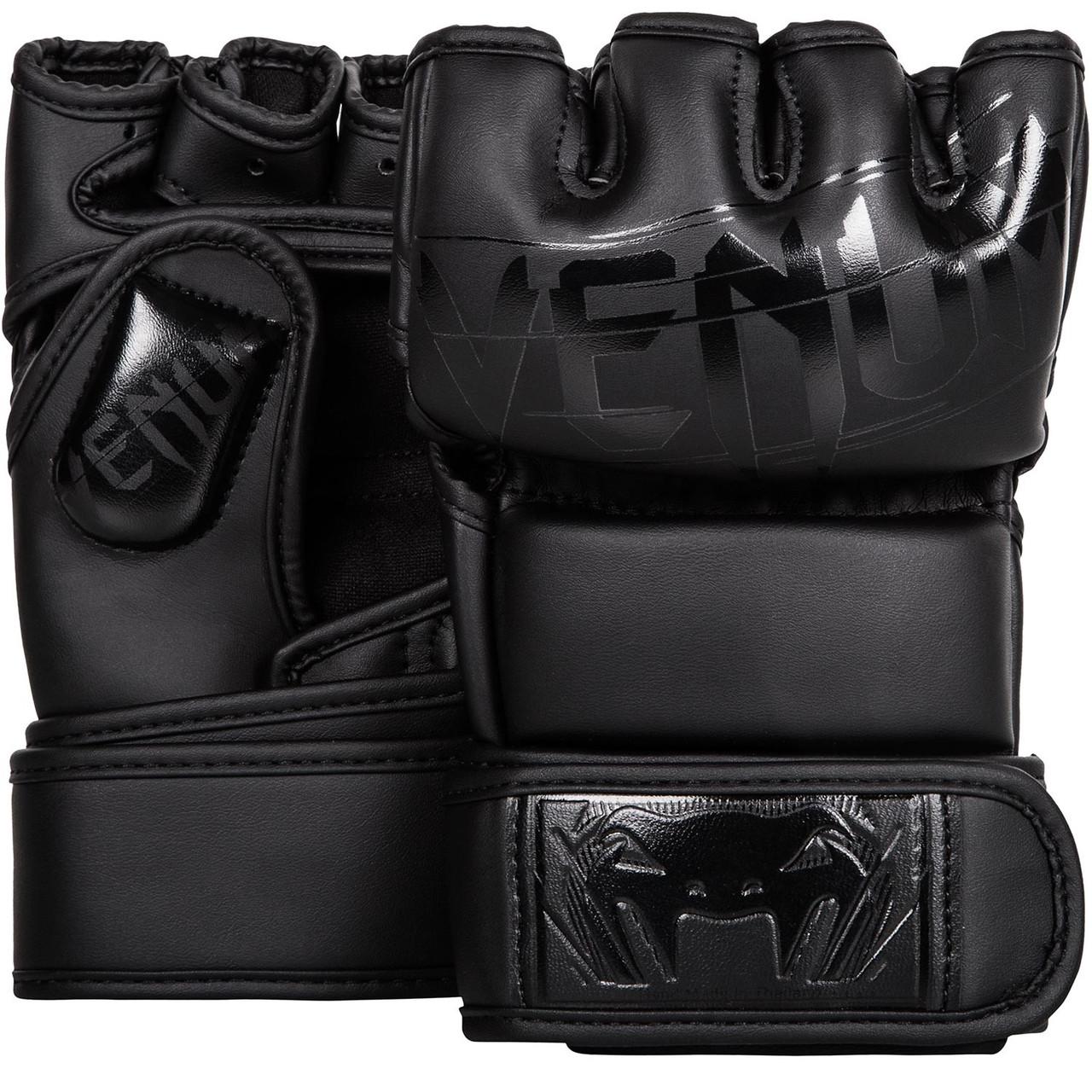 Перчатки MMA Venum Undisputed 2.0 Skintex Leather - Mate Black