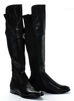 Женские сапоги черного цвета до колена