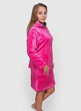 Жіночий махровий халат з пташкою, фото 2