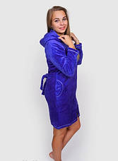 Жіночий махровий халат з пташкою, фото 3