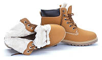 Теплые женские ботинки на каучуковой подошве 37-41