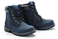 Женские ботинки синего цвета
