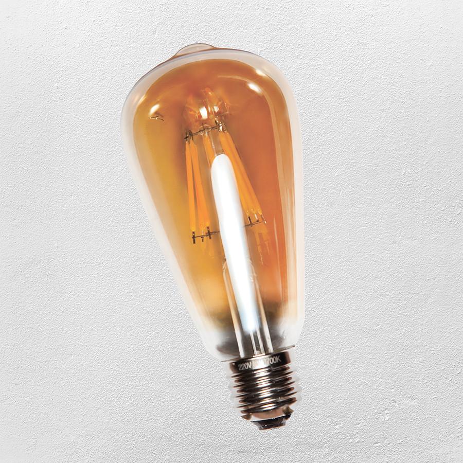 Лампа Эдисона ST-64 LED QG premium (IC) 8W, Amber