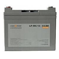 Аккумулятор AGM - 33 Ач, 12В мультигелевый LogicPower LPM-MG 12-33 AH, фото 2