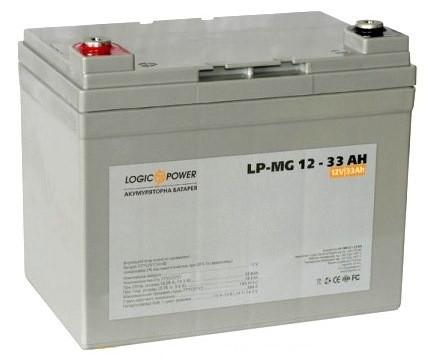 Аккумулятор AGM - 33 Ач, 12В мультигелевый LogicPower LPM-MG 12-33 AH