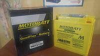 Аккумулятор для мотоцикла гелевый MOTOBATT  AGM 14Ah 200 A  размер 151 x 87 x 145 мм с проставкой MBTX12U