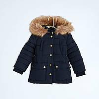 Зимняя куртка удлиненная для девочки на теплой  подкладке Кияби (Франция)