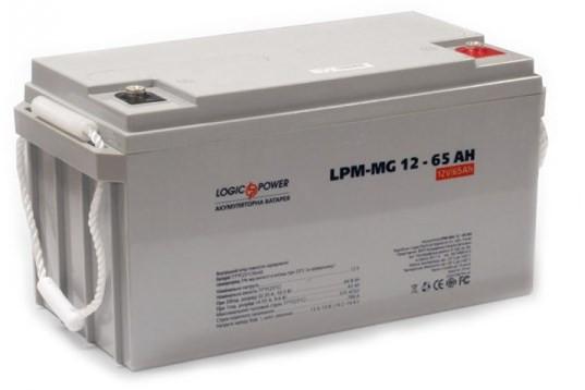Аккумулятор AGM - 65 Ач, 12В мультигелевый LogicPower LPM-MG 12-65 AH