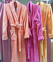 Халат махровый женский длинный с шалью размер XL