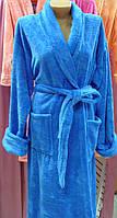 Халат махровый женский длинный с шалью размер 2XL