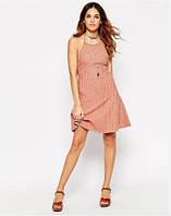 Новое платье в рубчик с узлом ASOS тонкой вязки