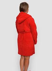 Махровый халат женский красных оттенков, фото 3
