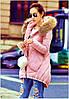 Куртка женская с капюшоном мех натуральный енот отстегивается
