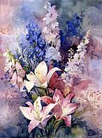 Рисование по номерам Mariposa Розовые лилии  40 х 50 см