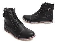 Стильные мужские ботинки черного цвета размеры 44,45