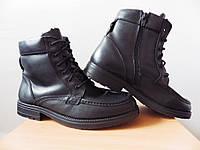 Мужские зимние ботинки с мехом р-р 41 (26-26,5см)  (сток, б/у) кожаная обувь, фото 1