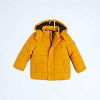 Зимняя куртка яркого цвета для мальчика Кияби с капюшоном +подкладка
