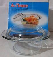 Жаростойкая посуда А+ 1081 круглая с крышкой 2,5 л