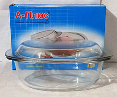 Жаростойкая посуда А+ 1082 с крышкой 3,5 л