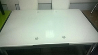 Стол обеденный раскладной стеклянный  ТВ 017 ультра-белый 110/170*75*75