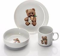 Набор посуды для детей 3пр. Cmielow Teddy Bear 6503T06E2B123