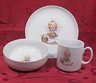 Набор посуды для детей 3пр. Cmielow Wonder 6503T06E2B121