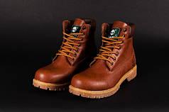 Зимние мужские ботинки Timberland коричневые топ реплика